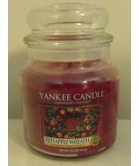 Yankee Candle New Red Apple Wreath Medium Jar Candle 14.5 oz - $14.95