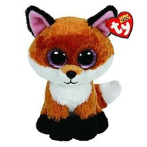 Ty Beanie Boos Stuffed & Plush Animal Colorful Brown Fox Toy Doll With T... - $7.50