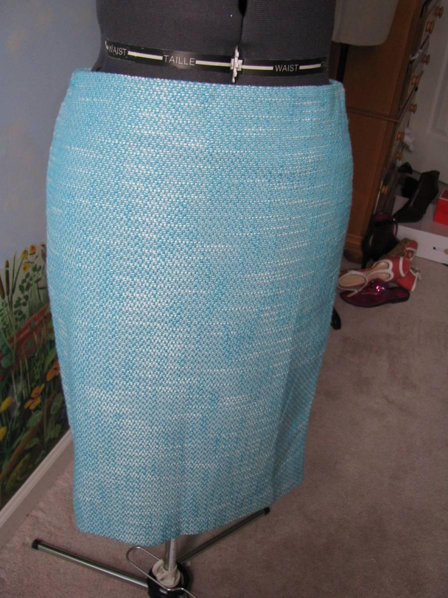 14fab1ae746 S l1600. S l1600. Previous. Talbots Skirt Petite Blue   White Women Straight  Skirt Size 10 Petite New