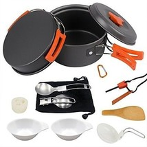 Camping Cookware Set Hiking Backpacking Gear And Camping Cooking Utensi... - $44.70