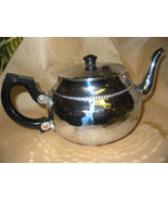 Sona Chrome Teapot Made in England Hammered Aluminum - $18.00
