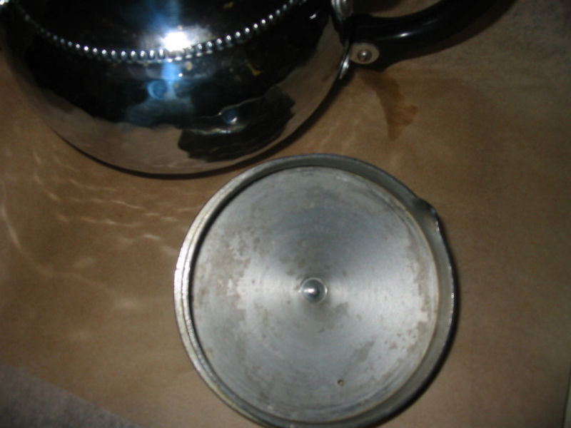 Sona Chrome Teapot Made in England Hammered Aluminum