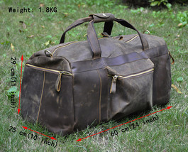 Mens Genuine Leather Cowhide Large Capacity Travel Luggage Tote Duffle G... - $114.75