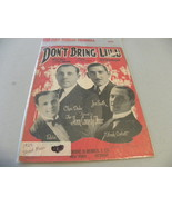 "vintage sheet music 1925  ""Don't Bring Lulu"" - $5.00"