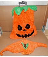 """Halloween Pet Costume Mean Pumpkin Light Up Eyes XLg Fits 21"""" To 24"""" Dog... - $8.49"""