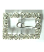 Pretty Vintage Rhinestone Belt Buckle - $9.99