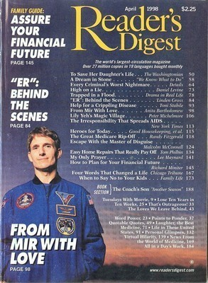 READER'S DIGEST-1998-APRIL-ER MOVIE;MIR;FINANCIAL FUTURE;AIDS;CRIMINAL NIGHTMARE