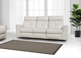 ESF 8501 Contemporary White Italian Leather Recliner Sofa Modern