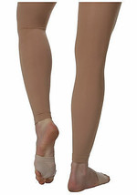 Body Wrappers C33 Child Medium / Large (8-14) Suntan Footless Tights - $11.87