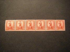 1943 War Savings Line Strip of 6 Stamps Catalog Number WS12 MNH