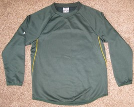 MAJESTIC BLANK OAKLAND A'S GREEN THERMA BASE TECH FLEECE PULLOVER BOYS Y... - $18.65