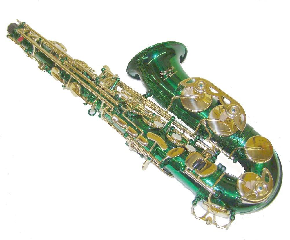 Merano E Flat Green Alto Saxophone with Case - Alto