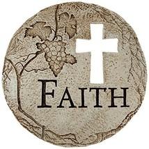 Roman Religious Cross Cut-Out Faith Decorative Garden Patio Stepping Sto... - $32.34