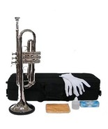 B Flat Silver Trumpet with Case and Mouth Piece, Gloves, Oil - $118.00