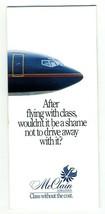 McClain Airlines Brochure  1986 Phoenix Chicago Los Angeles Dallas - $31.76