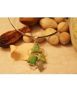 Copper Turquoise,  Prehnite Silver Pendant/Necklace - $65.00