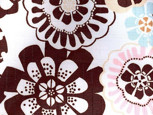 All Purpose Zippered Pouch COOL FLOWER POWER Print Ballistic Waterproof Fabric