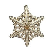 1983 Gorham 925 Sterling Silver & Gold Filled Christmas Snowflake Ornament - $49.49