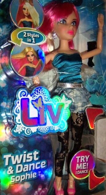 Liv Twist & Dance Sophie Doll Twist Wig 2 styles in 1 Liv Girls NEW Accessories