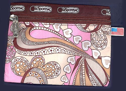 LeSportSac FLUSHED Print Fabric All Purpose Zippered Bag Cell MakeUp Giftcard