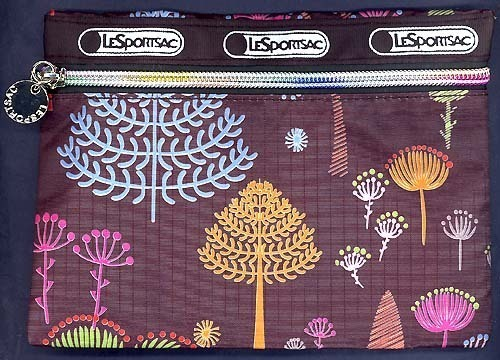 FLOATING SEEDS TREES Print Ballistic Fabric All Purpose Rainbow Zippered Bag Pou