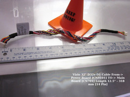 """Vizio 32"""" D32x-D1 Cable From-> Power Board [CN9101] TO-> Main Board [CN701 - $14.95"""