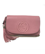 NEW GUCCI 536224 Soho Leather Crossbody Bag, Pink - $1,399.00