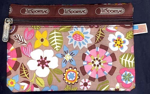 AGE OF AQUARIUS FLORAL 70s Print Fabric Zippered CarryAll Pouch The Perfect Gift