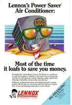Lennox 1983 Full Page  Print Ad - Most of the time it loafs to save you money.VG image 2