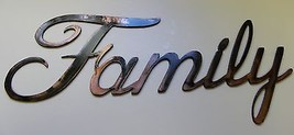 Metal Wall Art Words...Family Style 2 Copper/Bronze Plated - $12.37