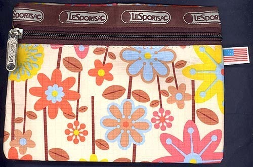 FLOWERS DAZE Ballistic Waterproof Fabric CarryAll Cell MakeUp You Name it Pouch!