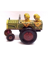 Louis Marx Jumpin Jeep Tin Litho Wind-up Toy Vintage - $294.97