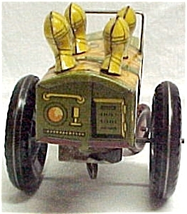 Louis Marx Jumpin Jeep Tin Litho Wind-up Toy Vintage