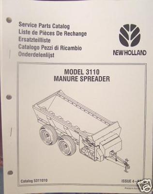 Primary image for New Holland 3110 Manure Spreader Parts Manual