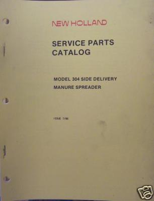 New Holland 304 Manure Spreader Parts Manual