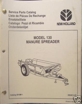 New Holland 130 Manure Spreader Parts Manual