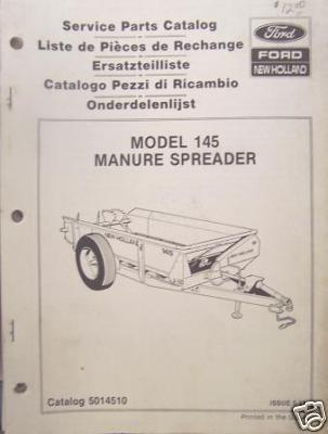 New Holland 145 Manure Spreader Parts Manual