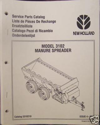 New Holland 3102 Manure Spreader Parts Manual