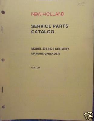 Primary image for New Holland 308 Manure Spreader Parts Manual