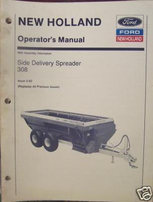 New Holland 308 Manure Spreader Operator's Manual