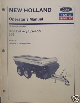 New Holland 306 Manure Spreader Operator's Manual