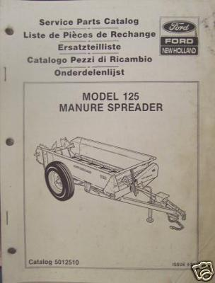 Primary image for New Holland 125 Manure Spreader Parts Manual