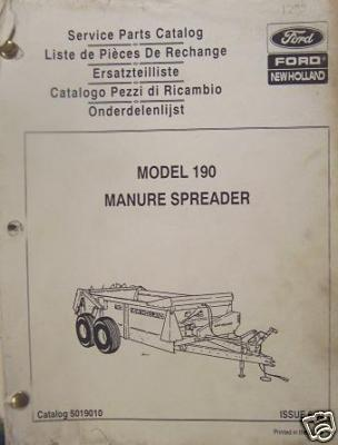 New Holland 190 Manure Spreader Parts Manual