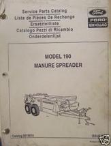 New Holland 190 Manure Spreader Parts Manual - $9.00