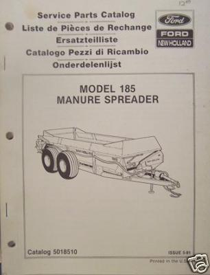 New Holland 185 Manure Spreader Parts Manual