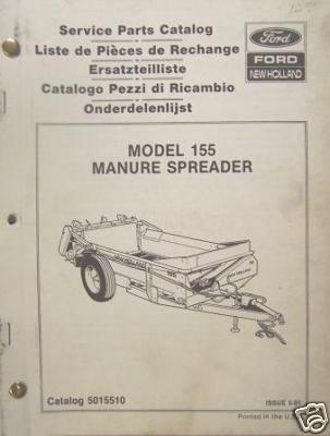 New Holland 155 Manure Spreader Parts Manual