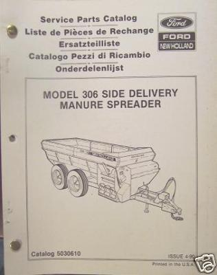 New Holland 306 Manure Spreader Parts Manual