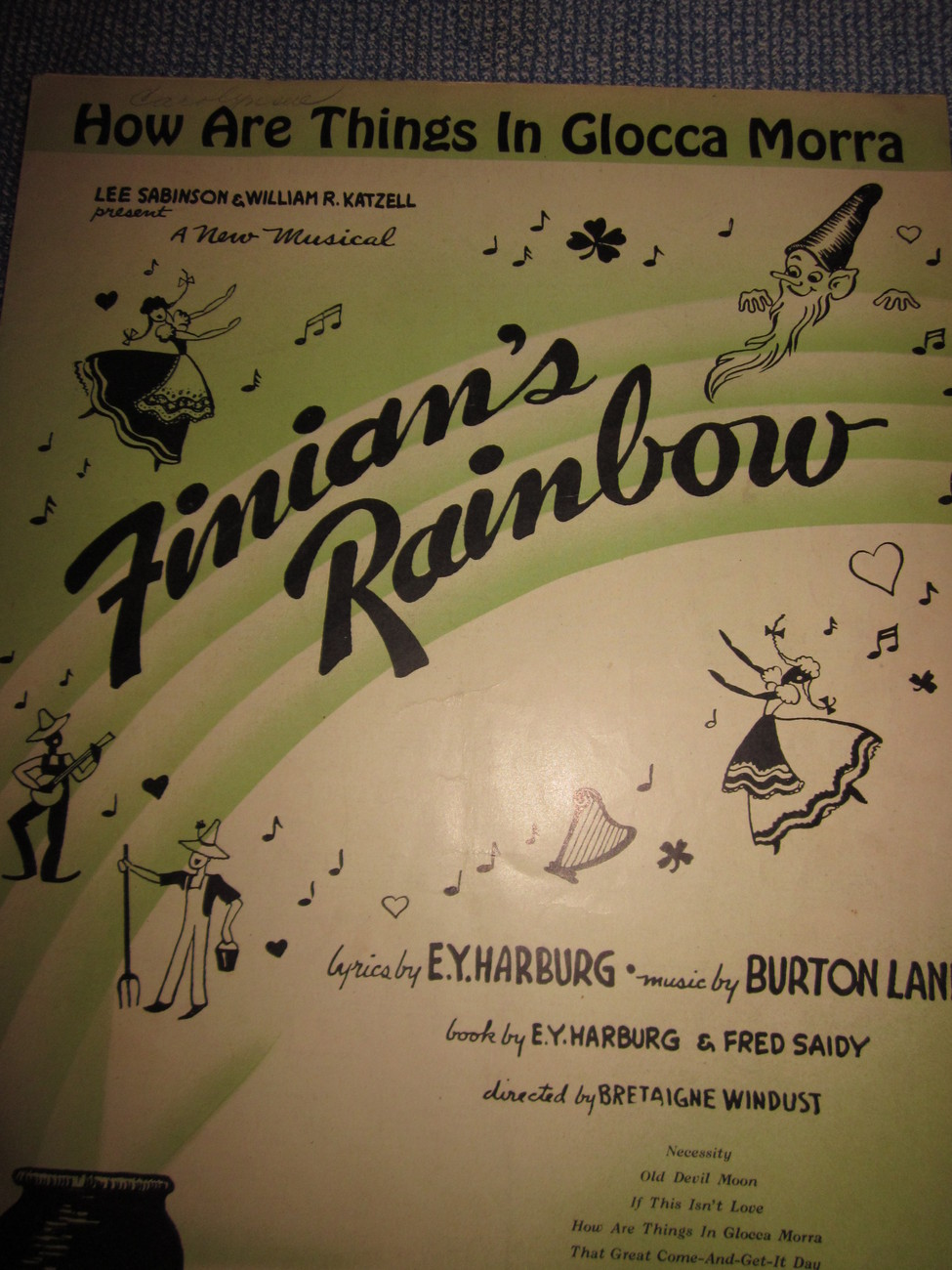 Vintage Sheet Music How are things in Glocca Morra from Finians Rainbow 1946