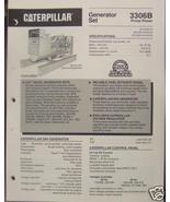 1993 Caterpillar 3306B Diesel Generator Sets Brochure - $8.00
