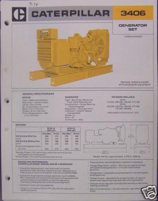 Primary image for 1979 Caterpillar 3406 Diesel Generator Sets Brochure